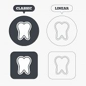 picture of toothpaste  - Tooth enamel protection sign icon - JPG
