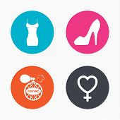 stock photo of fragrance  - Circle buttons - JPG