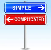 Постер, плакат: Simple Or Complicated Choice