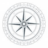 picture of wind-rose  - Wind Rose Conceptual Illustration Isolated on White Background - JPG