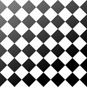 stock photo of ceramic tile  - ceramic tiles black and white chess board seamless pattern - JPG