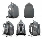 picture of knapsack  - Backpack from different angles isolated on white background - JPG
