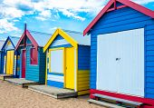foto of beach hut  - Bathing houses at Brighton Beach Australia - JPG