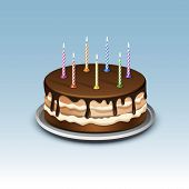 image of candle flame  - Birthday Cake with Candles Numerals Flame Fire Light - JPG