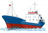 picture of life-boat  - trawler fishing boat on the sea - JPG
