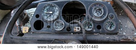 picture of a old damaged Bus driver commands