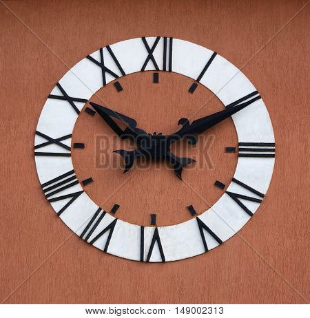 Clockface face clock time roman numeral tower