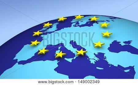 European Union 3D Europe concepts star shape eurogroup