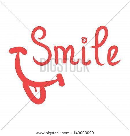 Smile is a language sign of good mood vector logo on a white background