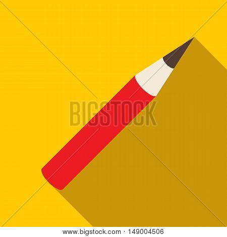 Cosmetic pencil icon in flat style isolated with long shadow vector illustration