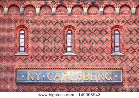 Copenhagen, Denmark - June 7, 2014: Old Carlsberg brewery in Copenhagen, Denmark
