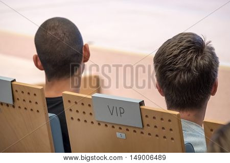 VIP seat at conference hall