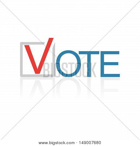 The isolated election symbol design. Vector illustration