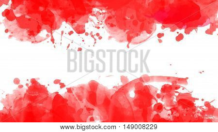 Abstract watercolor red blood coloring background banner Eps10 Vector illustration.