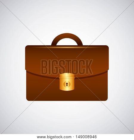 briefcase portfolio isolated icon vector illustration design