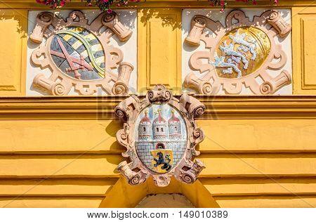 Historic Emblem At A Building
