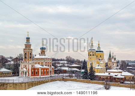 Ensemble of churches in the historic centre of Serpukhov Russia