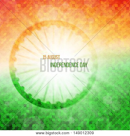 India independence day poster, 15th of august, vector illustration