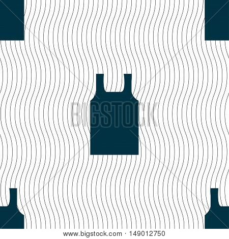 Working Vest Icon Sign. Seamless Pattern With Geometric Texture. Vector