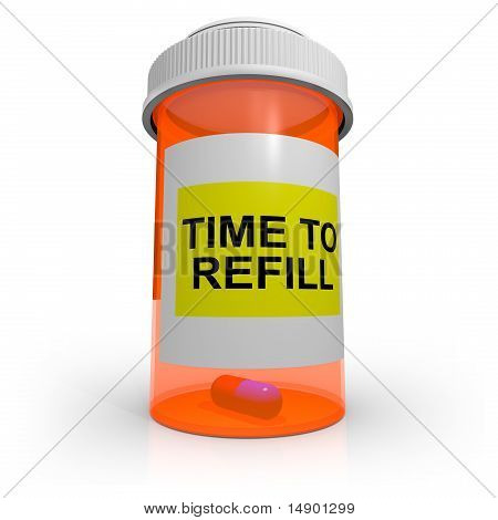 Empty Prescription Bottle