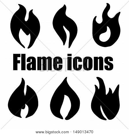 High quality original flame icons set for web design or any other need