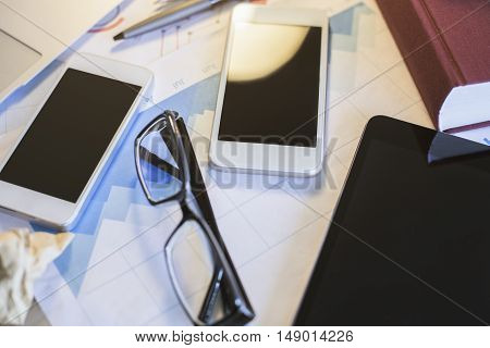 Blank Smartphones And Tablet
