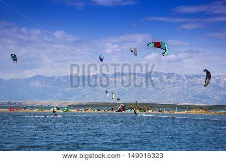 Kiteboarding Kitesurfing Extreme Sport in Nin Croatia