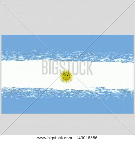 Flag of Argentina. Grunge Argentinean Background. National Argentinean Flag