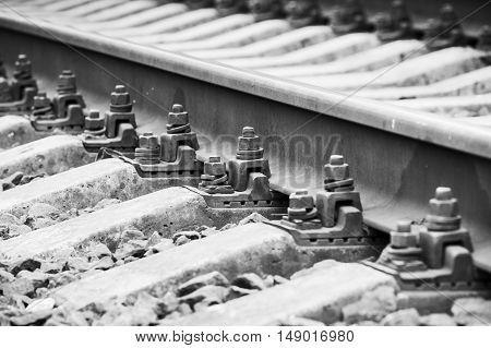 Railway Track Details, Close Up Photo