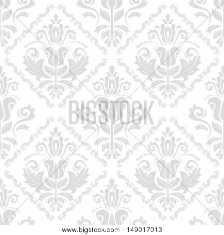 Damask vector classic light pattern. Seamless abstract background with repeating elements