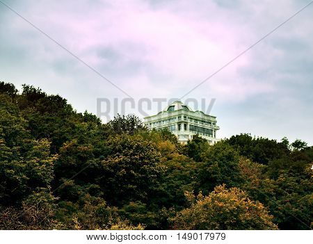 autumn beautiful view of the city of Kiev, capital of Ukraine, modern architecture