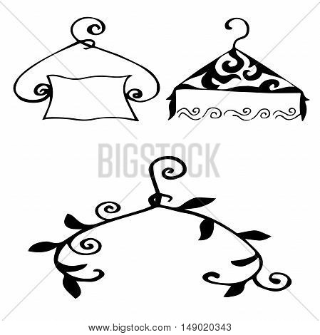 High quality original set of hangers for model house, sales or other needs
