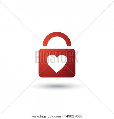 Valentine and Wedding Card, Icon Design With Padlock