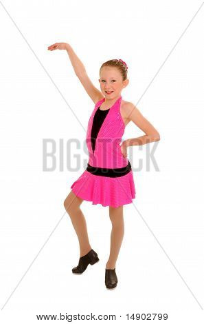 Happy Tap Dancing Girl