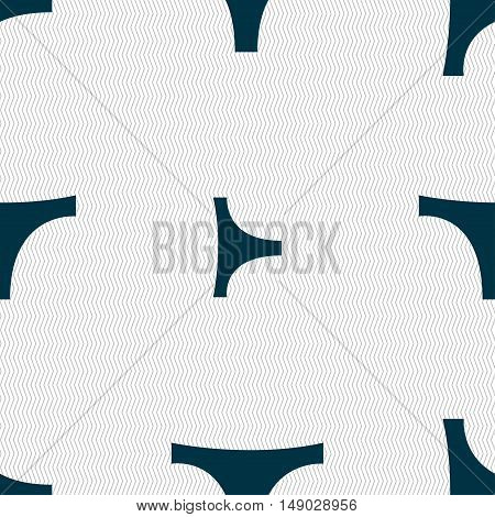 Underwear Icon Sign. Seamless Pattern With Geometric Texture. Vector