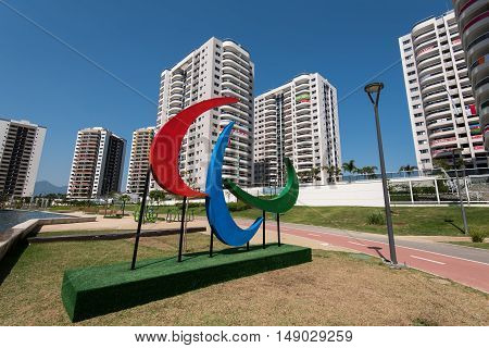 Rio de Janeiro, Brazil - September 12, 2016: Olympic and Paralympic Village where the athletes were staying during the games.
