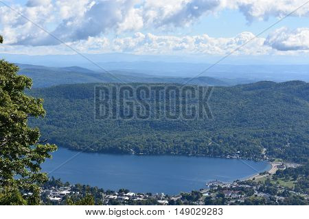 View of Lake George from Prospect Mountain, in New York State