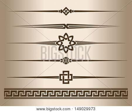 Decorative lines. Design elements - decorative line dividers and ornament. Vector illustration.