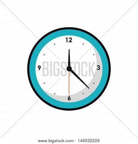 Traditional clock icon. Time tool and instrument theme. Isolated design. Vector illustration