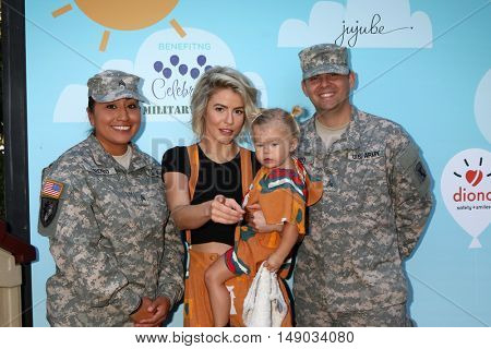 LOS ANGELES - SEP 24:  Soldier, Linsey Godfrey, Aleda Seren Adamson at the 5th Annual Red Carpet Safety Awareness Event at the Sony Picture Studios on September 24, 2016 in Culver City, CA