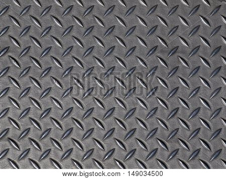 Corrugated steel road construction plate.