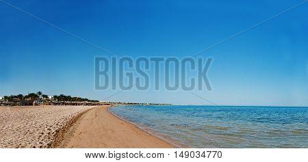 Panoramic Beach Resort , Blue Sea Sand And Sky