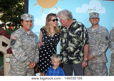 LOS ANGELES - SEP 24:  Soldier, Steffanie Sampson, Luke Sampson Busey, Gary Busey t the Red Carpet Safety Awareness Event at the Sony Picture Studios on September 24, 2016 in Culver City, CA