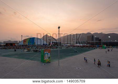 Rio de Janeiro, Brazil - September 15, 2016: Olympic Park of Barra during the Paralympic Games Rio 2016.