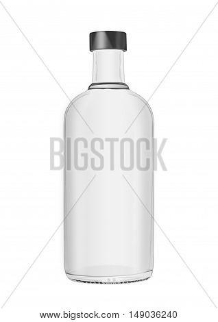 Vodka bottle isolated on white background. Illustration