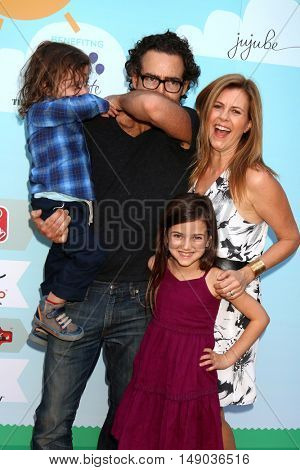 LOS ANGELES - SEP 24:  Joshua Taylor Fortson, John Fortson, Abby Ryder Fortson, Christie Lynn Smith at the Red Carpet Safety Event at the Sony Picture Studios on September 24, 2016 in Culver City, CA