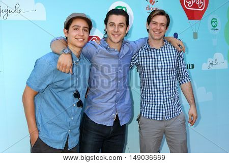 LOS ANGELES - SEP 24:  Lorenzo James Henrie, David Henrie, Brandon Hall at the 5th Annual Red Carpet Safety Awareness Event at the Sony Picture Studios on September 24, 2016 in Culver City, CA
