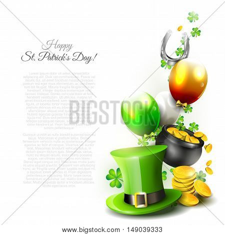 St Patrick's Day - vector background with copyspace