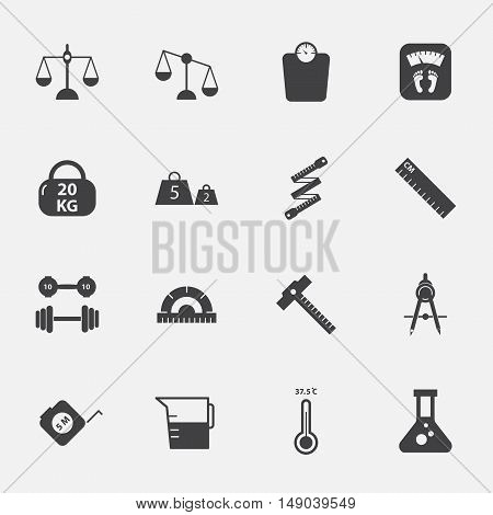 measuring sign and symbol icon set.vector\illustration. vector . illustration