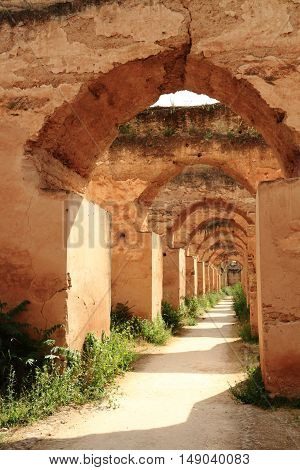 The Royal Stables in Meknes Morocco, Africa